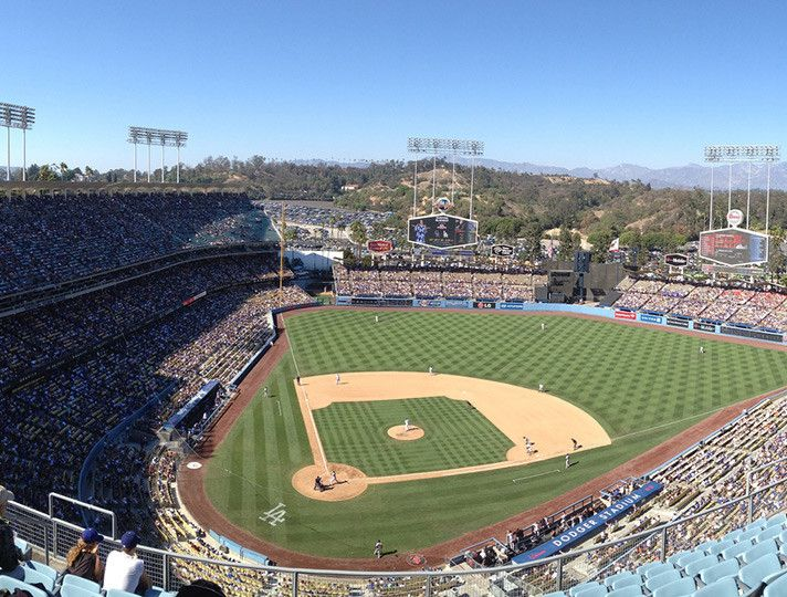 221 best images about places spaces in los angeles on for Dodger stadium wall mural