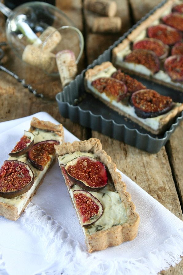 Fig cake with cheese - perfect with glass of white vine