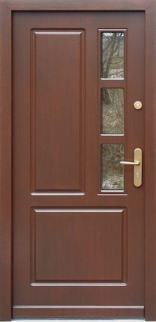 Drewniane wejściowe drzwi zewnętrzne do domu z katalogu modeli klasycznych wzór 591s3
