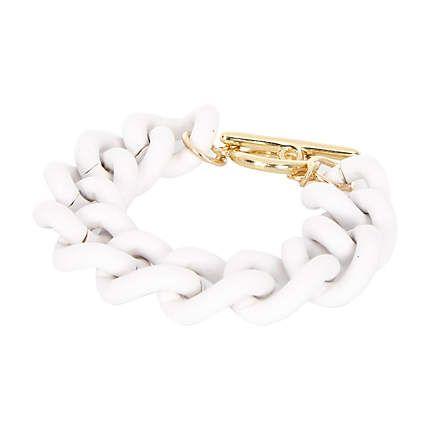 White curb chain bracelet £6.00