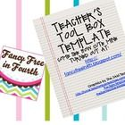 A Teacher's Toolbox is a great way to organize the things you use everyday! Now you will know exactly where your pens, markers, paperclips, whiteou...