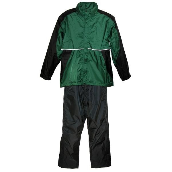 Stay dry and comfortable on those cold and rainy days with this high quality mens 2 tone pant and jacket golf rain suit by ShedRain!