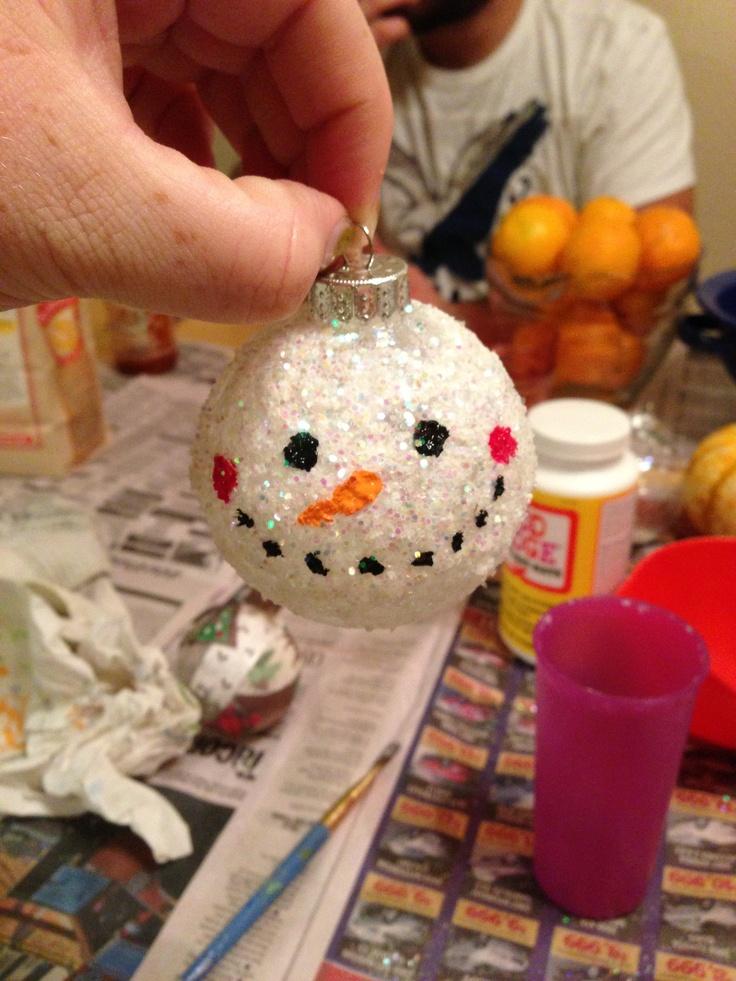 Snow man ornament DIY
