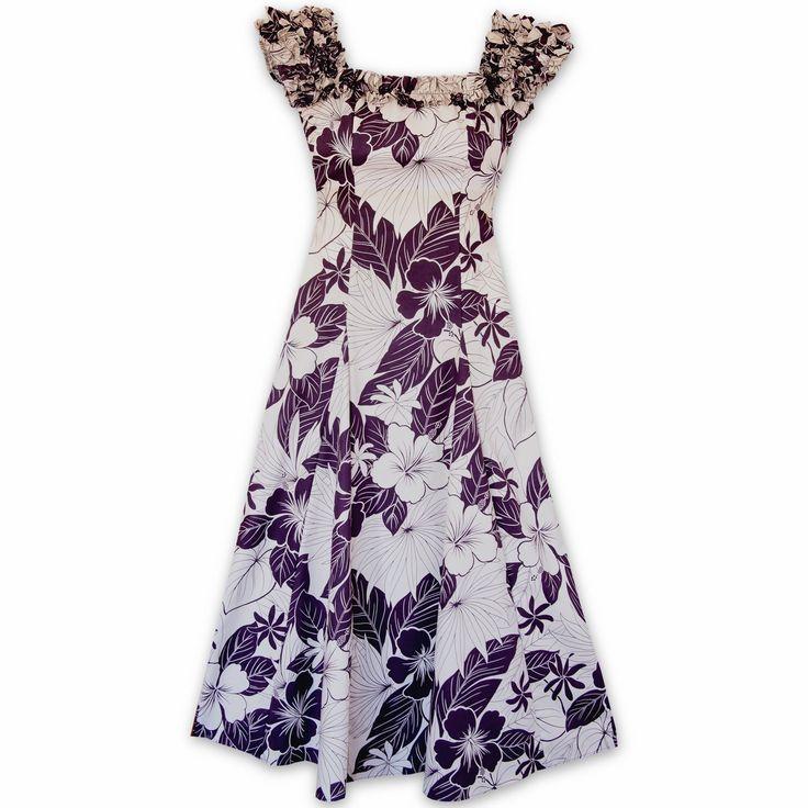 Haven Purple Leilani Hawaiian Muumuu Dress  #hawaiian #madeinhawaii
