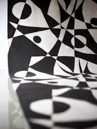 Regatta™ printed textiles. Black/White by FREEMOVER. Textile designed by Maria Lovisa Dahlberg