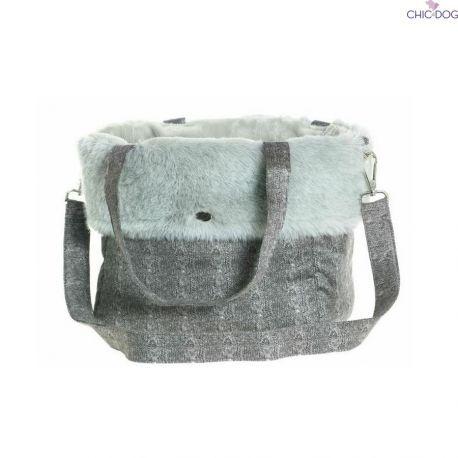 Margarita #dog shoulder bag, eco-fur  Borsa per cani in eco-fur   Chic4Dog