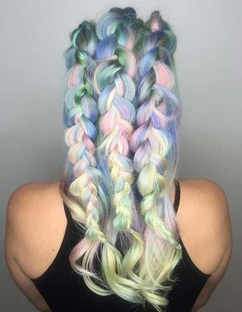Pastel Hair + Braids