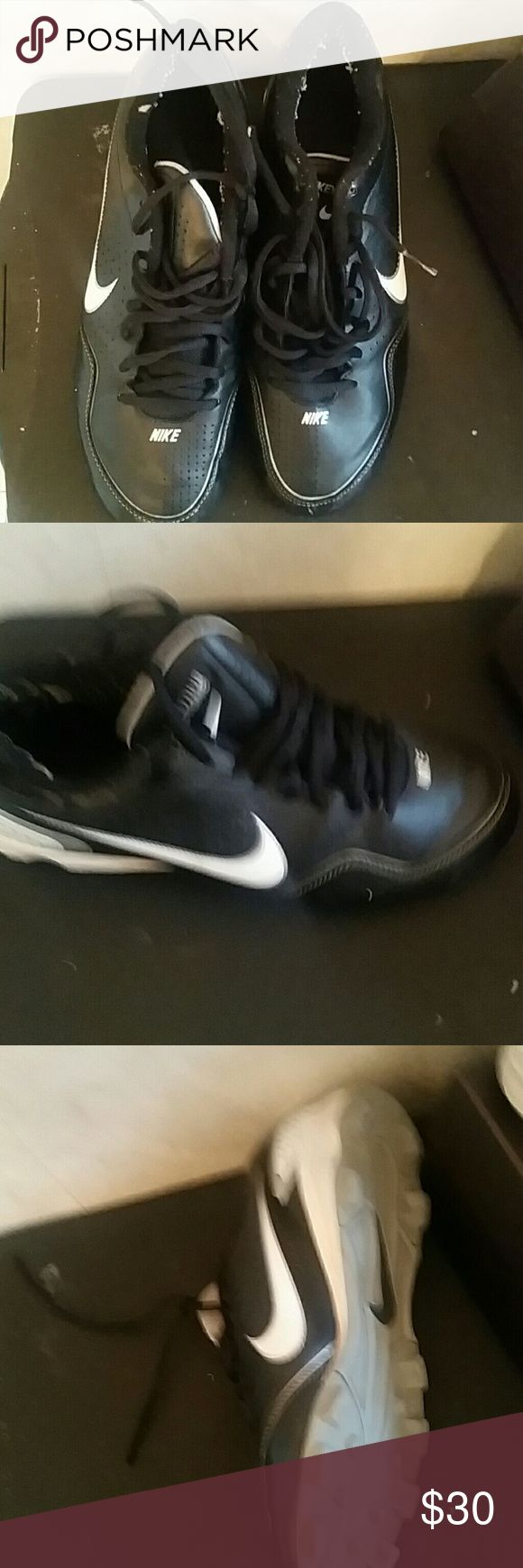 Nike cleats Men's Nike cleats only worn a few times before my son quit baseball lol Nike Shoes Athletic Shoes