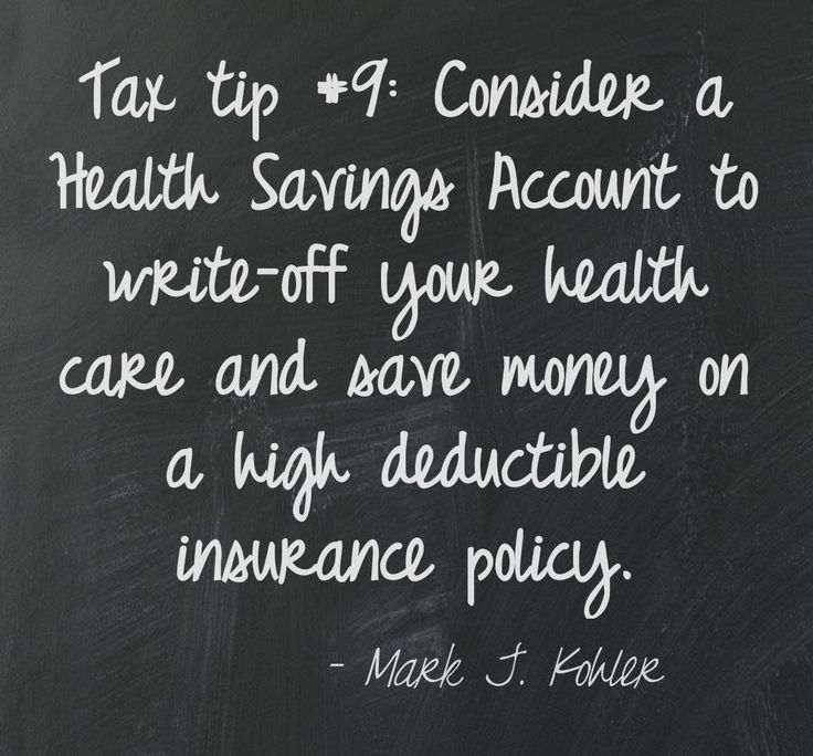 Tax tip #9: A Health Savings Account (HSA) can help you save on health costs.