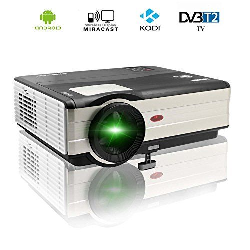Cheap CAIWEI 1080p Wireless Video Projector 4000 Lumens 1024x768 HD Home Theater Digital LCD Projector HDMI USB VGA TV Built-in Android System with Wifi Best Selling