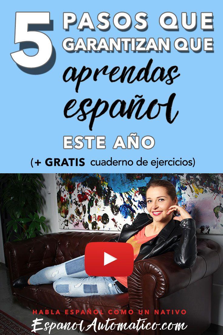 """5 pasos que garantizan que aprendas español este año. Comenzamos el año con una mini serie de 4 podcasts diseñados para darte un empujoncito para cumplir tu sueño: hablar español con fluidez. además un FREEBIE especial """"Resoluciones de año nuevo y el subjuntivo español"""" descargalo http://www.espanolautomatico.com/podcast/031"""