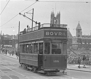 Last tram in Plymouth, 1945, Old Town Street