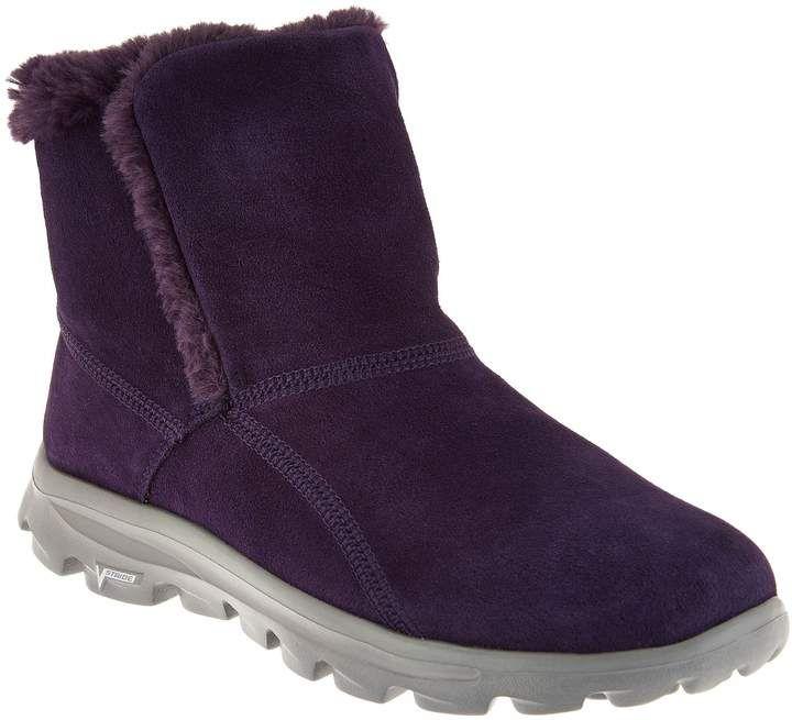 Skechers GOWalk Suede Faux Fur Boots w