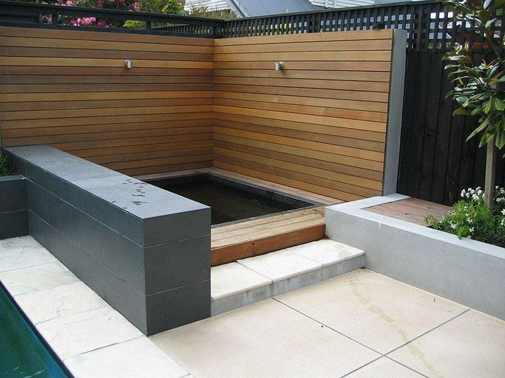 Spa and mix of Feature walls and Fencing