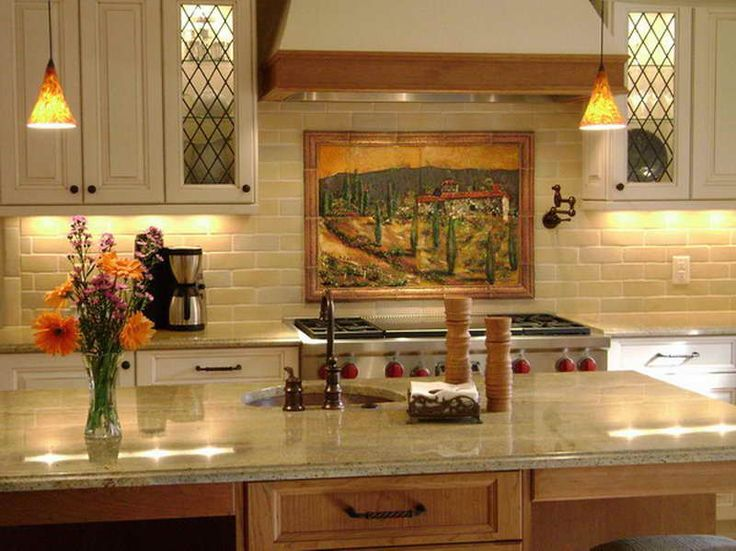Tuscan Style Decorating Ideas With Nice Countertop Tuscan Wall Decor Tuscan Decorating Kitchen Italian Kitchen Decor