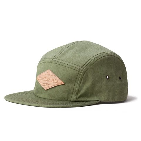 The 5 Panel Camp Cap in Green   United By Blue #bluemovement