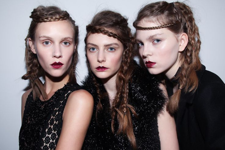 #JohnRocha #AW11 #backstage #black #makeup #hair #style #fashion photo by Emanuele D'Angelo