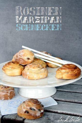 Kleine Nascherei am Sonntag: Rosinen-Marzipan-Schnecken