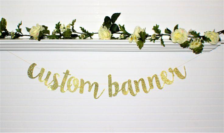 BRIDAL SHOWER BANNER - Custom Banner - Wedding Decoration - Birthday - Bachelorette Party Banner - Engagement Party Banner - Wedding Love-G5 by ABannerBoutique on Etsy