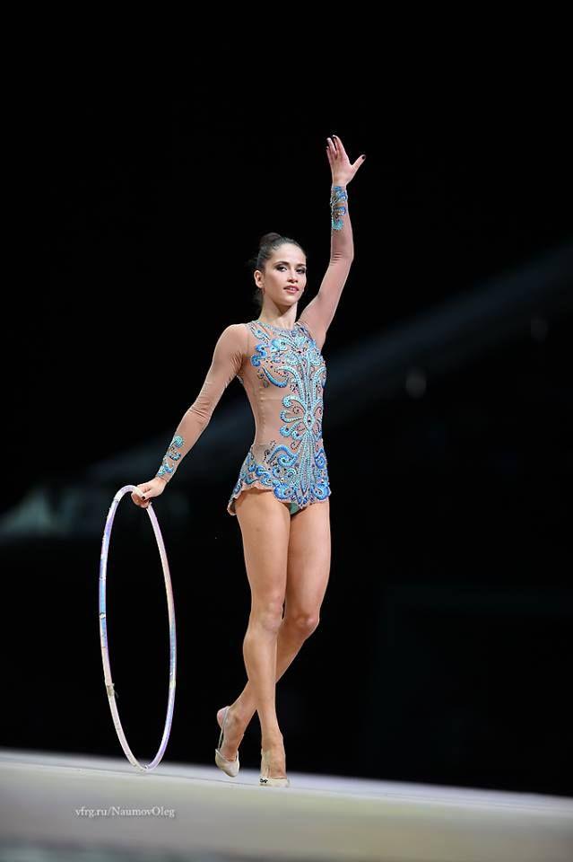 Neviana Vladinova (Bulgaria) got 17.766 points for hoop at Qualifications, Olympic Games 2016