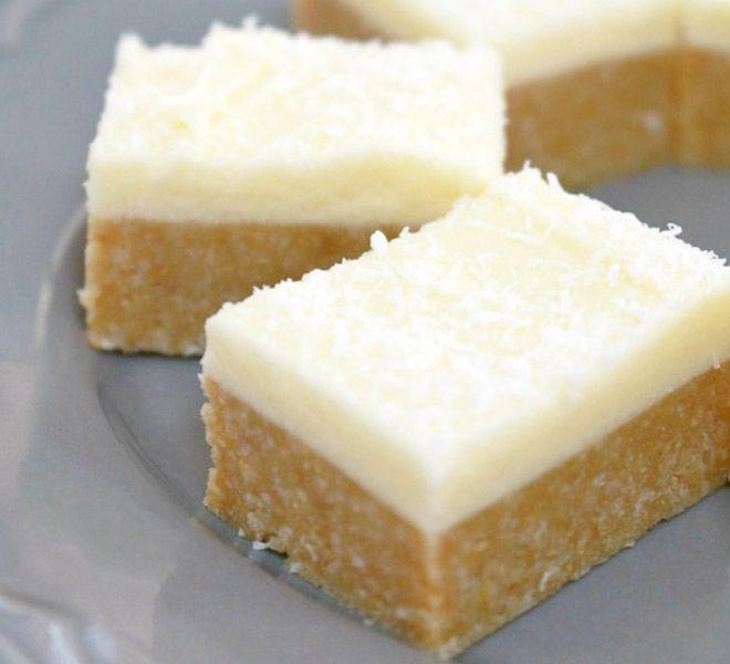 Best ever lemon coconut slice - this recipe is so delicious!