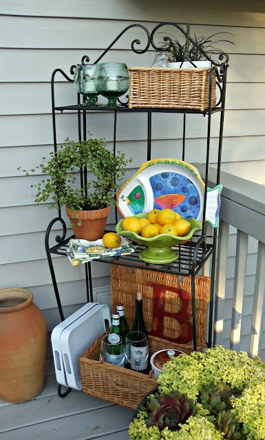 25+ best ideas about Bakers rack decorating on Pinterest ...