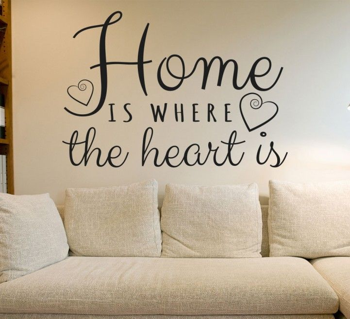 This Lovely Wall Art Sticker Features The Classic Sentiment Home Is Where  The Heart Is, Part 43