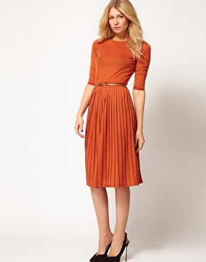ASOS Dress With Pleated Skirt