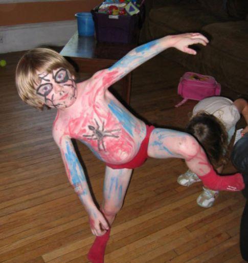 Funny Kids Costumes Homemade Spiderman Costume Looks