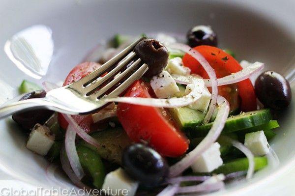 Authentic Greek SaladAdventure Eating, Global Tables, Eye Bulge, Salad Horiatiki, Favorite Salad, Greek Village, Authentic Greek, Village Salad, Greek Salad