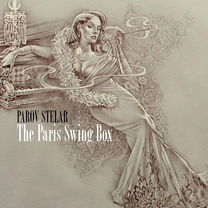 PAROV STELAR Album: The Paris Swing Box 2010. Marcus Füreder más conocido como Parov Stelar, es un disc jockey de música electrónica y productor discográfico austríaco. Se trata de uno de los pioneros del Electro swing, un género que fusiona la música swing con sonidos contemporáneos como el house, el hip hop o el dance, entre otros.