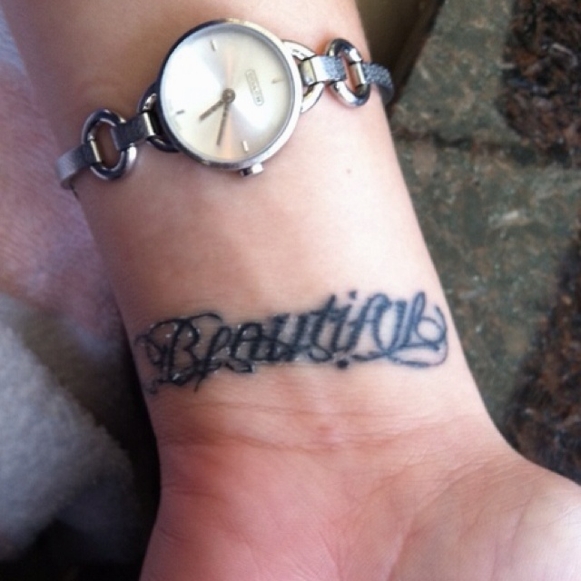 Beautiful disaster tattoo. I love the idea of this tattoo, but the disaster part is too hard o read for my liking.