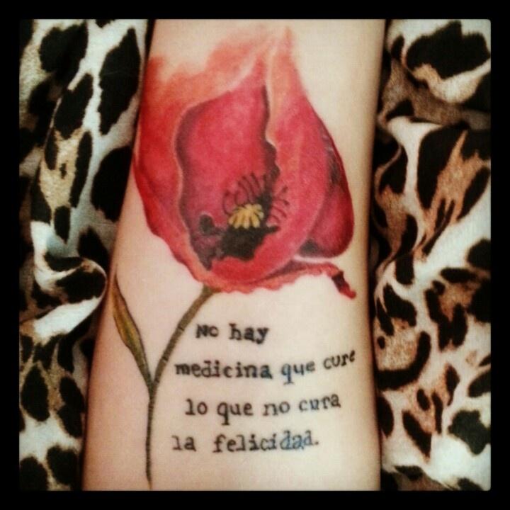 """Mexican Quotes In Spanish Tattoos Quotesgram: """"No Hay Medicina Que Cure Lo Que No Cura La Felicidad"""