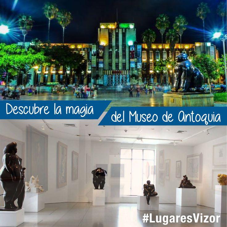 Descubre la magia del Museo de Antioquia #LugaresVizor #Colombia   www.vizormobil.com