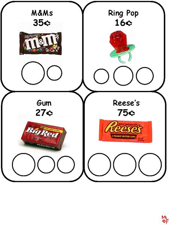 Coin Counting Candy Store Sheets-make my own inste…