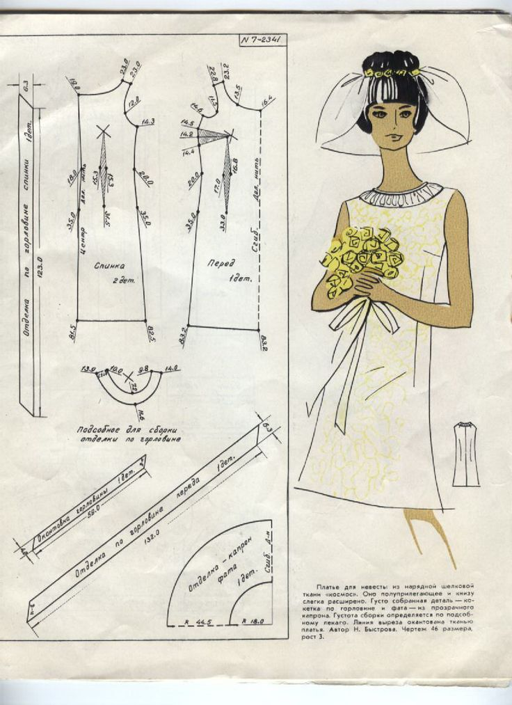 60s style wedding dress - sleeveless...#diy#sewing#patternmaking#