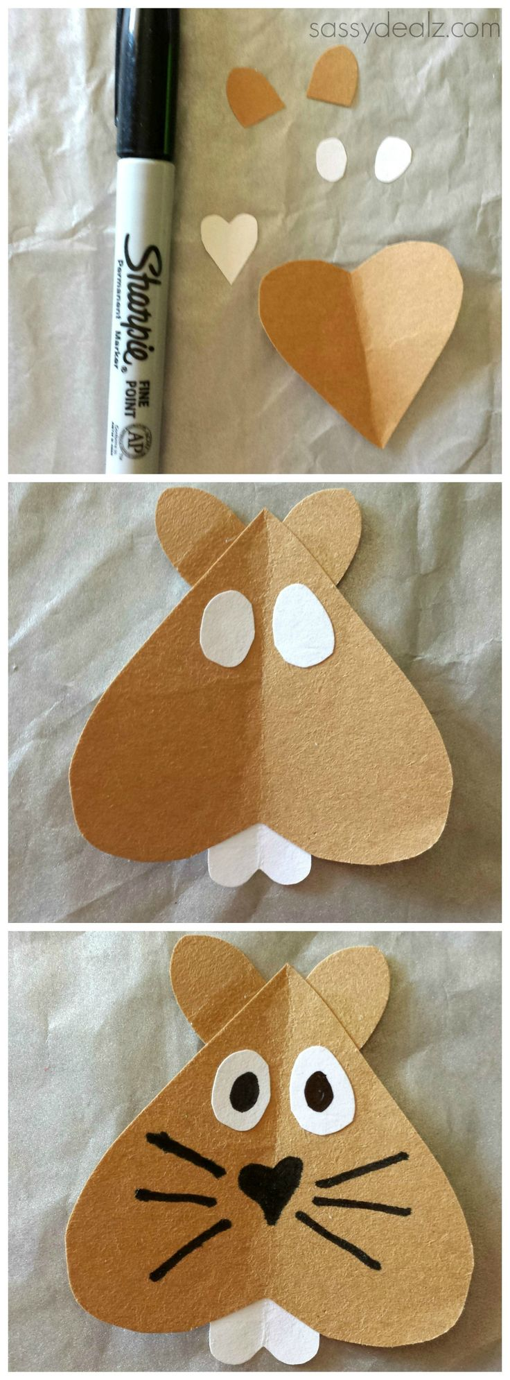 Groundhog craft for kids! #Groundhogs day art project #Groundhog face #Shadow | CraftyMorning.com