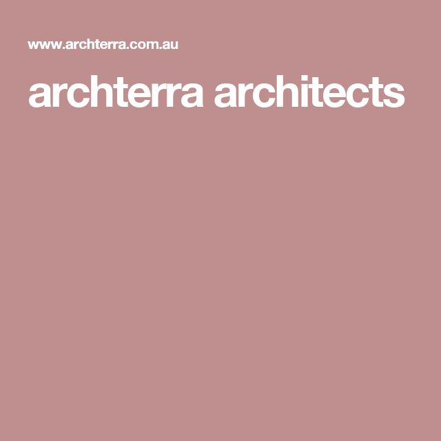 archterra architects