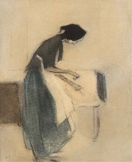 Helene Schjerfbeck, At the hearth