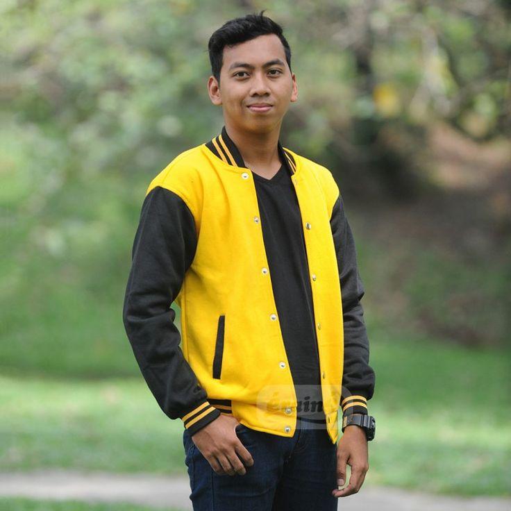 Varsity Jacket Yellow Black