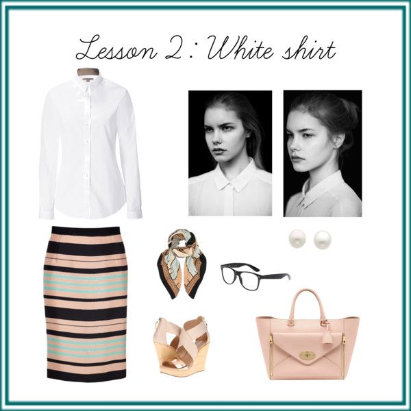 """""""Lesson 2: White shirt"""" by seliriana on Polyvore"""
