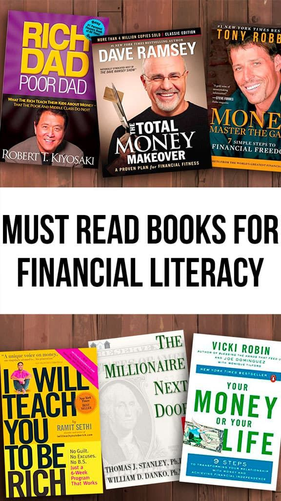 The Best Financial Literacy Books To Take Control Of Your Money Literacy Books Financial Literacy Books