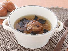 「ねぎと焼き梅のスープ」の料理レシピ/完成イメージ
