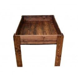 Tavolo in legno per orto sul terrazzo banco PRUSTO