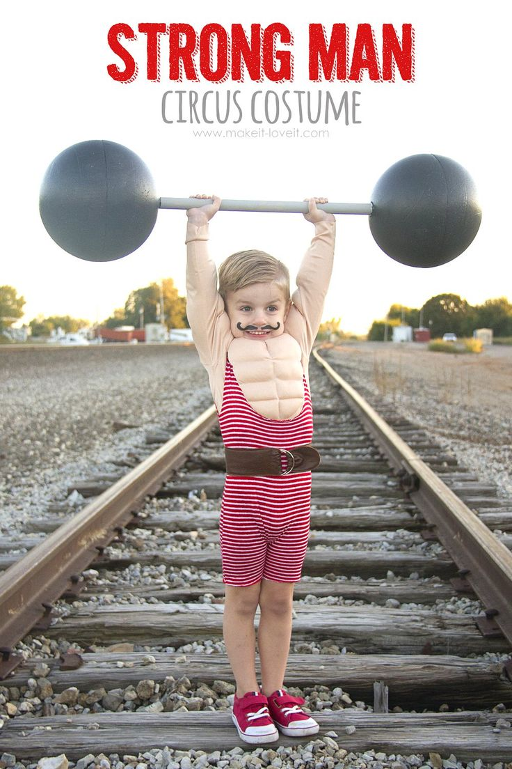 How to make a Strong Man Circus Costume...including a muscle shirt!   via www.makeit-loveit.com