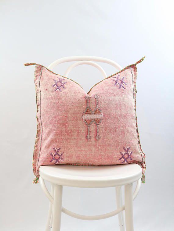 20 x 20 Pink Cactus Silk Pillow Case