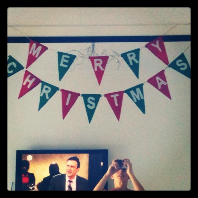 Christmas banner made from felt #handmade