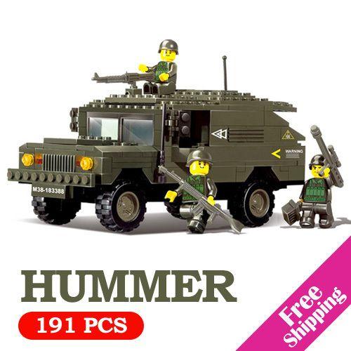 Marca 2014 Hummer / ejército / jeep militar bloques bloque Set DIY niños modelo juguetes para niños Abs de ladrillo compatibles con Lego regalo(China (Mainland))