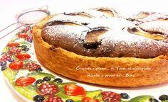 Crostata ripiena di torta al cioccolato