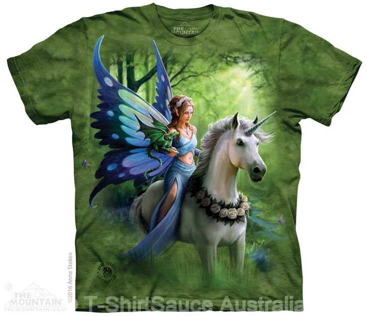 Realm of Enchantment Adults Fairy T-Shirt by Anne Stokes : The Mountain - 2017 Collection : T-Shirtsauce Australia: The Mountain T-Shirts